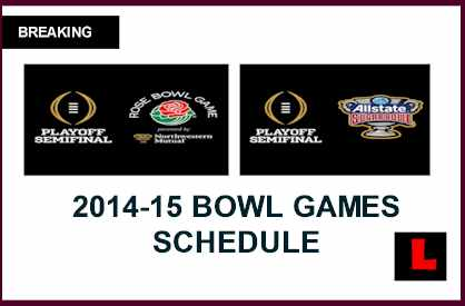 Game Time For Sugar Bowl And Rose Bowl