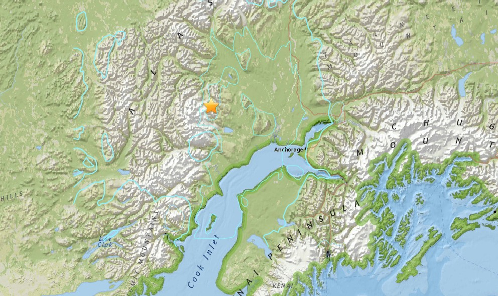 Alaska Earthquake 2015 Today Strikes West of Anchorage