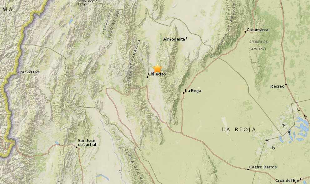 Argentina Earthquake Today 2015 Strikes La Rioja