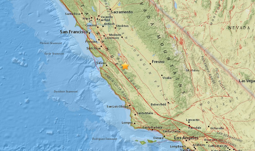 California Earthquake 2015 Today Strikes Near Fresno, Salinas