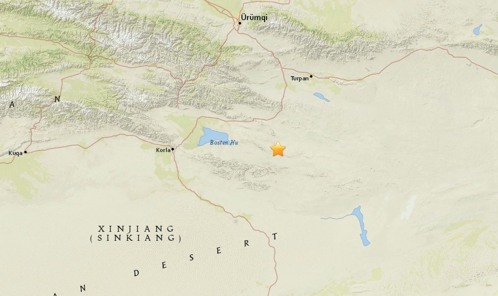China Earthquake 2015 Today Strikes Turpan