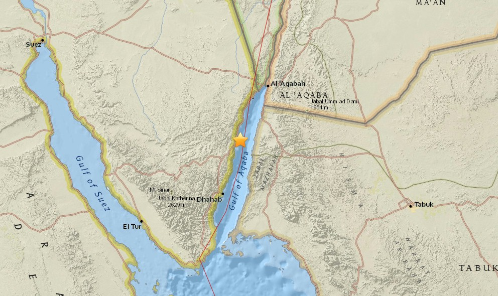 Egypt Earthquake 2015 Today Strikes Near Israel, Jordan