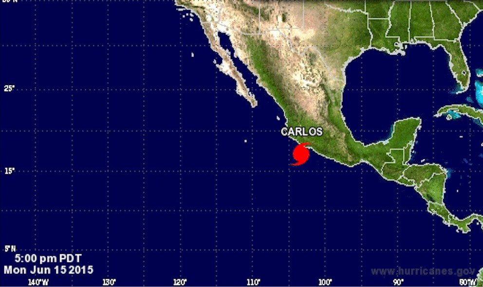 Hurricane Carlos, Mexico: National Hurricane Center Warns Playa Perula