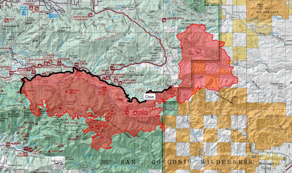 Lake Fire San Bernardino 2015 Grows, Sterling Fire Improves