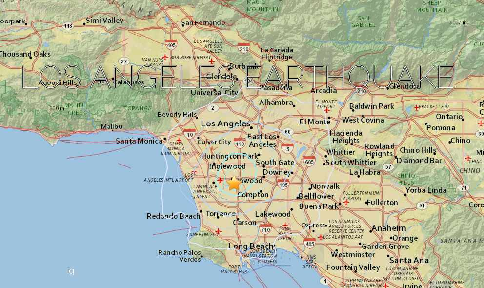 Los Angeles Earthquake 2015 Today Strikes Gardena, Southern California