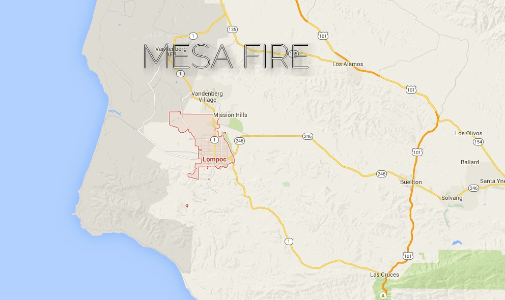 Mesa Fire 2015: Lompoc Fire in Burton Mesa Spreads Toward Cebada Canyon