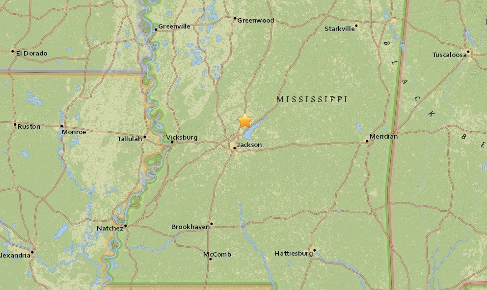 Mississippi Earthquake 2015 Today Strikes Canton
