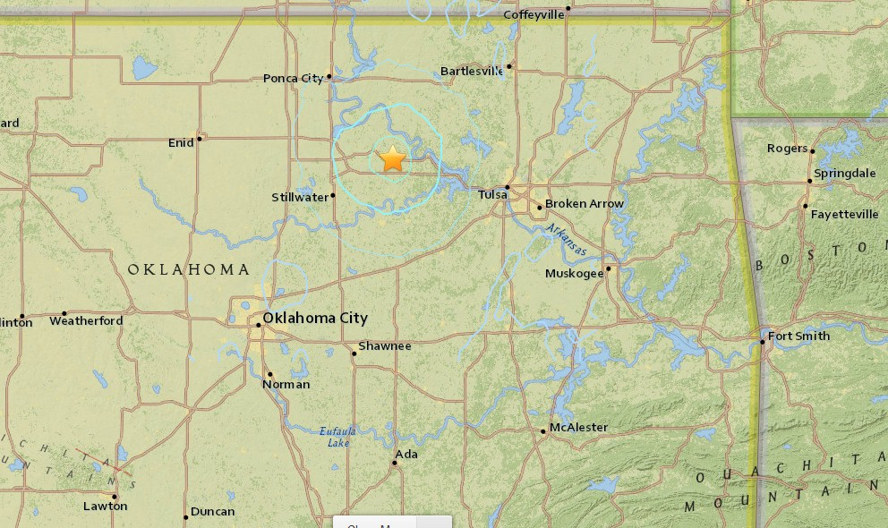 Oklahoma Earthquake Today 2015 Strikes NE of Oklahoma City