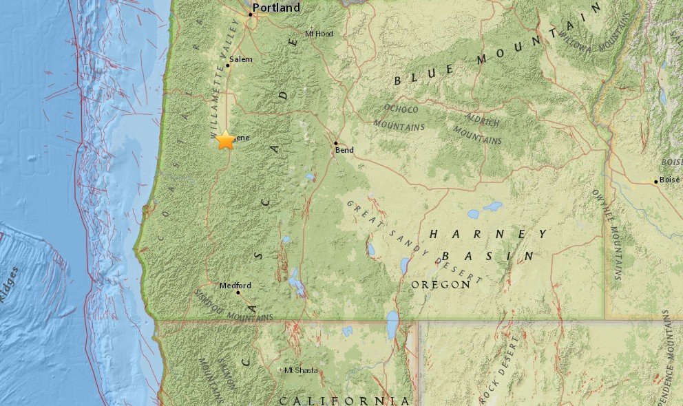 Oregon Earthquake 2015 Today Strikes Eugene