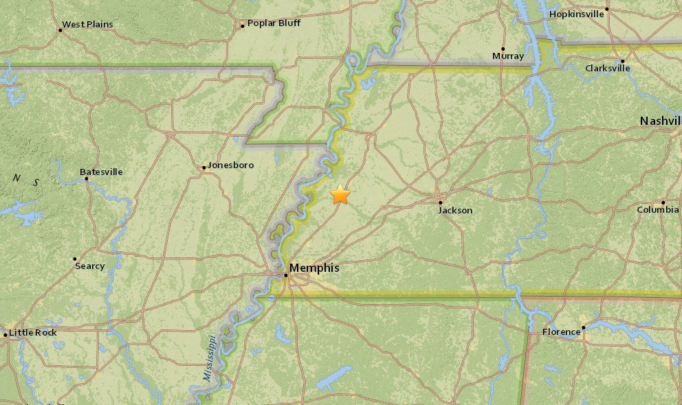 Tennessee Earthquake 2015 Strikes Near Arkansas