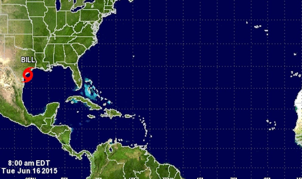 Tropical Storm Bill Projected Path 2015 Impacts Texas, Missouri