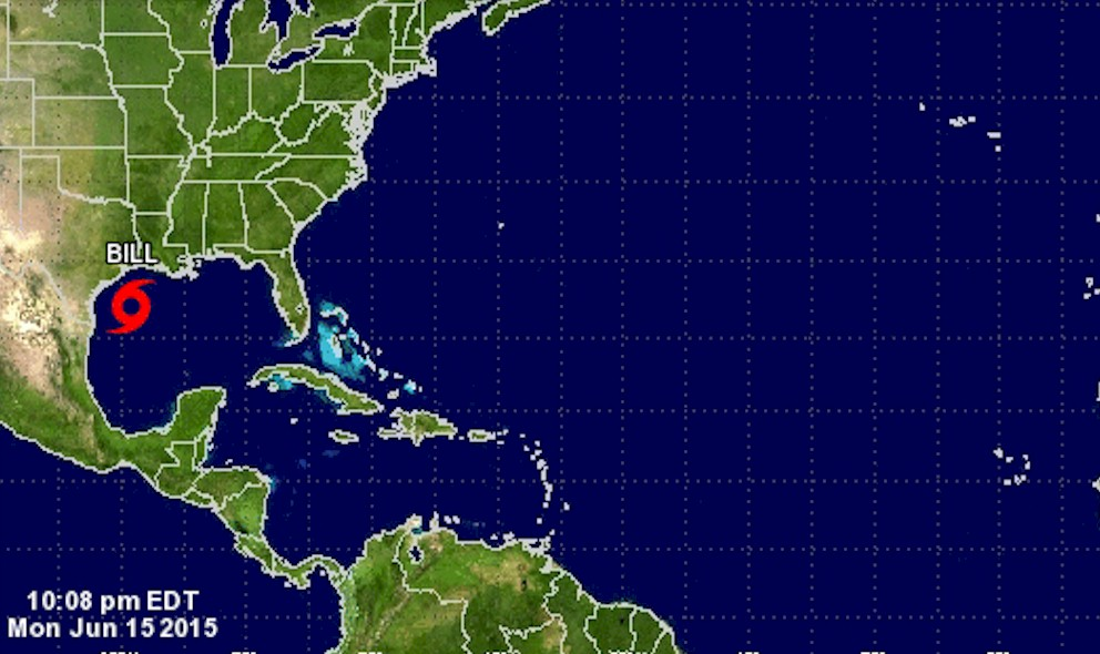 Tropical Storm Bill Texas Projected Path Updated by NHC
