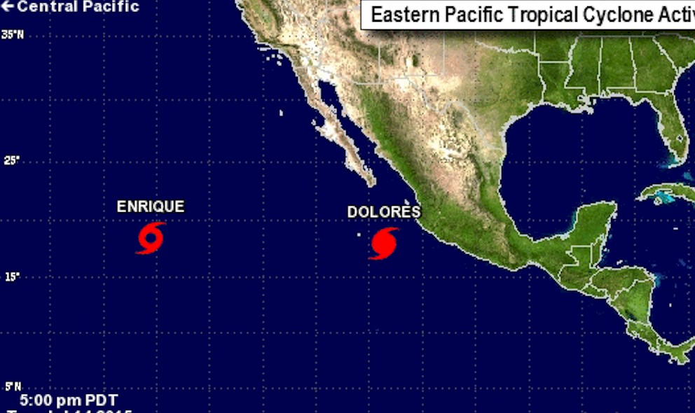 Hurricane Dolores 2015 Mexico Projected Path Updated Today