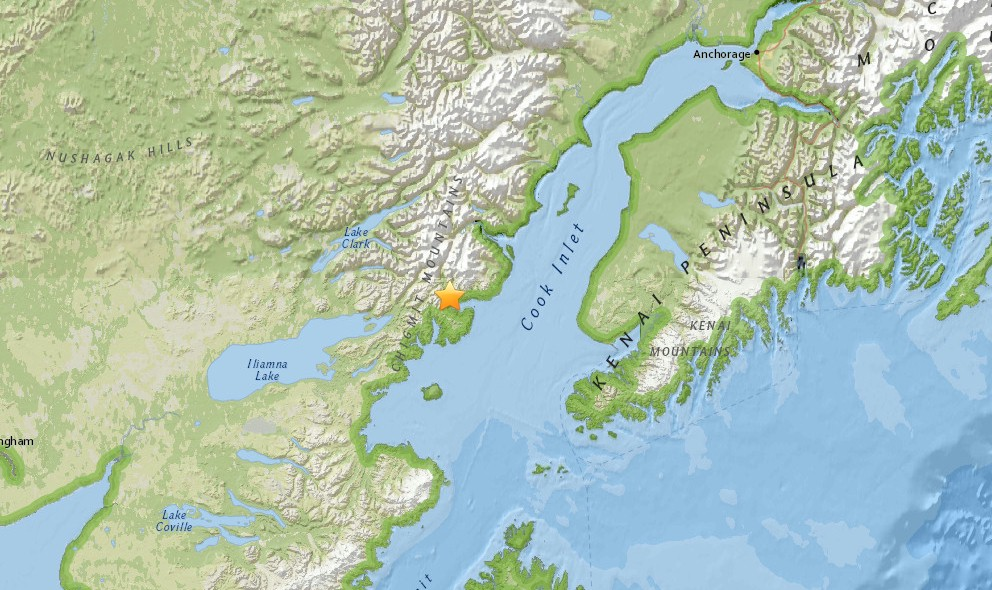 Alaska Earthquake Today 2015 Strikes SW of Anchorage
