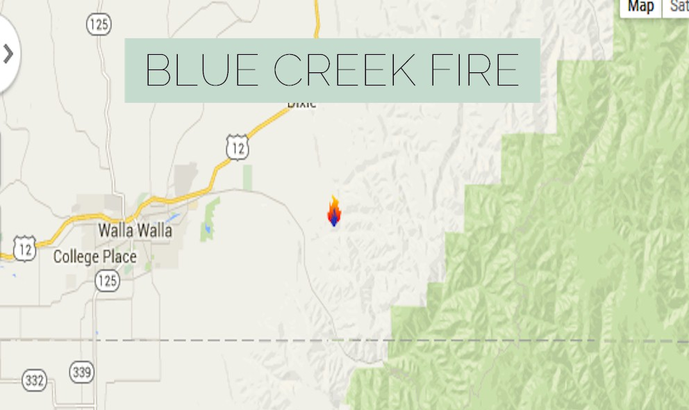 Blue Creek Fire 2015: Fire Near Walla Walla, Washington Prompts Evacuations