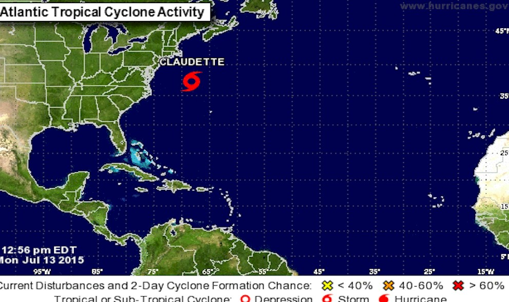 Tropical Storm Claudette Path Released by National Hurricane Center