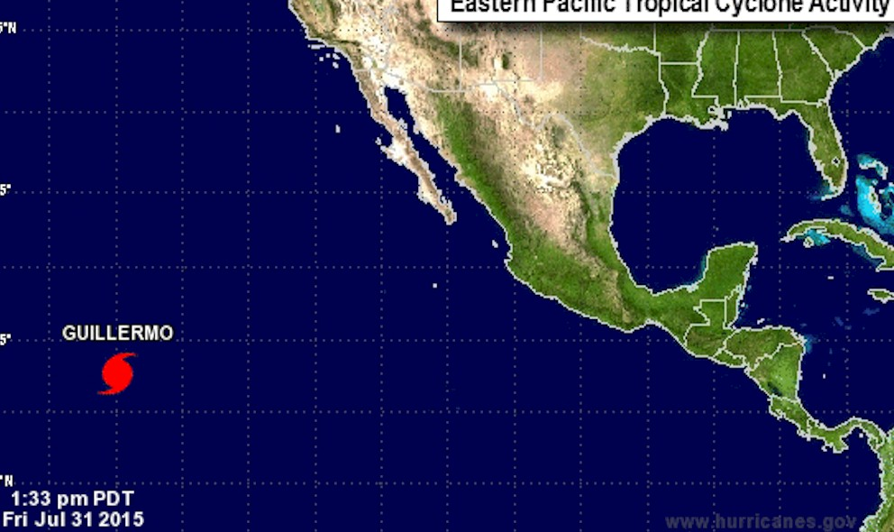 Hurricane Guillermo Projected Path Updated by National Hurricane Center
