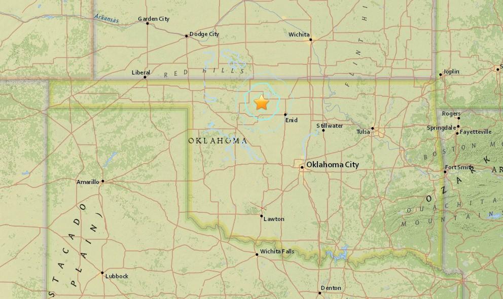 Oklahoma Earthquake 2015 Today Strikes West of Tulsa