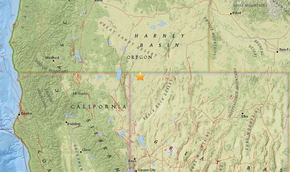 Oregon Earthquake Today 2015 Strikes Near Nevada