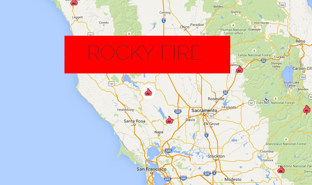 Rocky Fire 2015: Lake County Sonoma Napa Unit Battles CA Wildfire