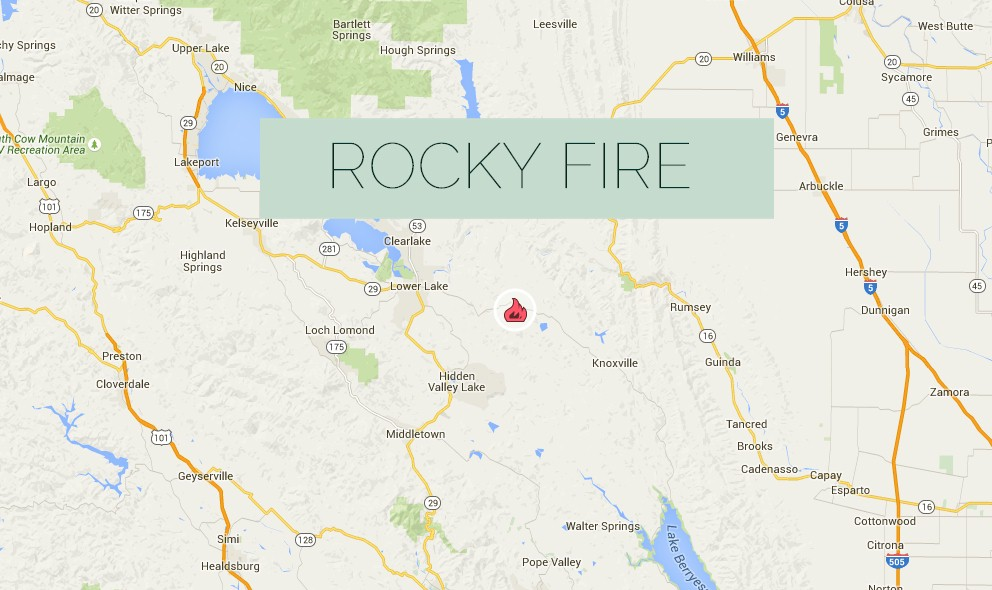Rocky Fire 2015 Map: Fire Expands in Lake, Yolo & Colusa Counties