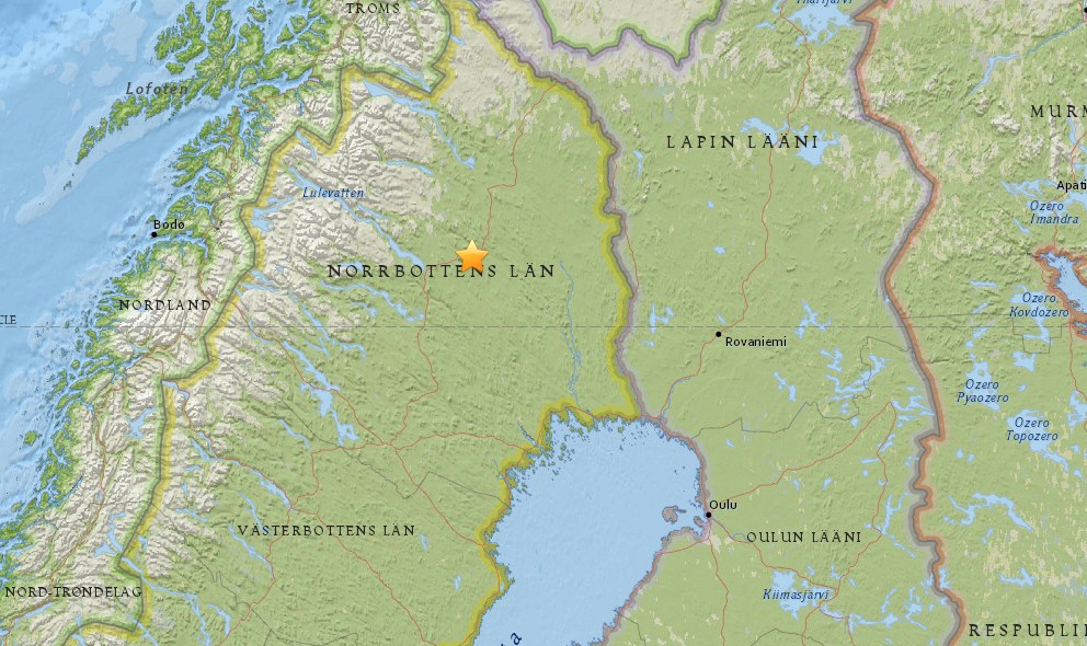 Sweden Earthquake Today 2015 Strikes Gaellivare