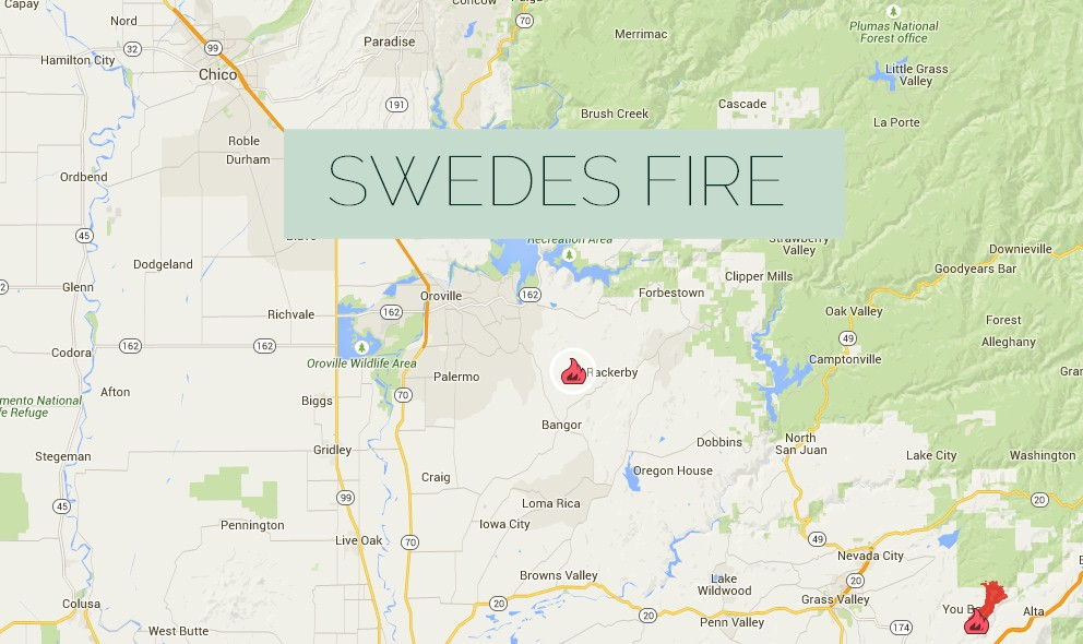Swedes Fire 2015: Butte County, California Wildfire Spreads Near Bangor