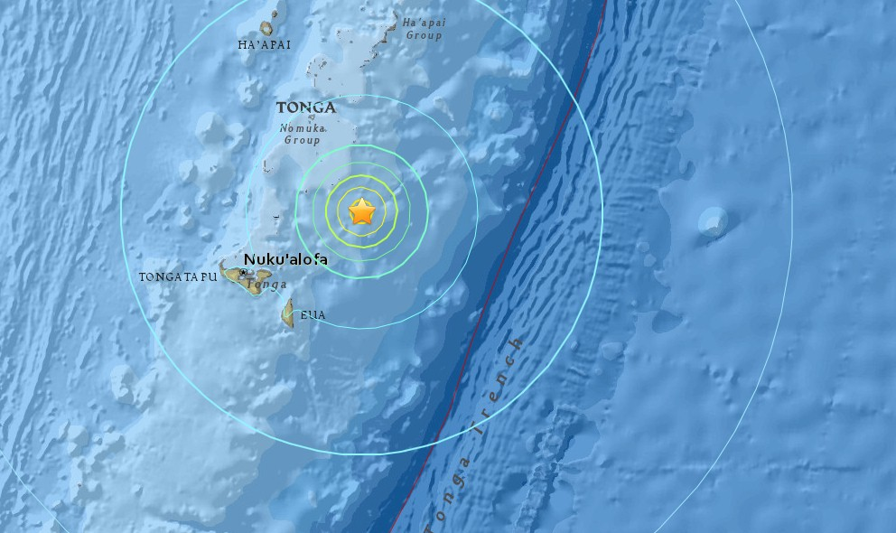 Tonga Earthquake 2015 Today: 6.2 Strikes East of Fiji