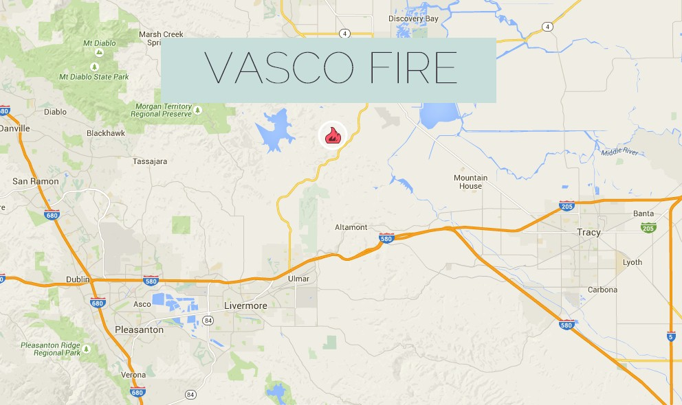 Vasco Fire 2015: Bryon, California Wildfire Burns in Contra Costa County