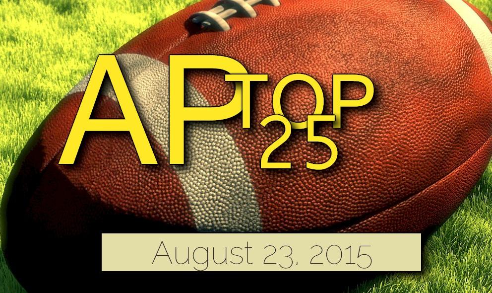 AP Top 25 College Football Rankings 2015 Reveal Poll Standings, 8/23