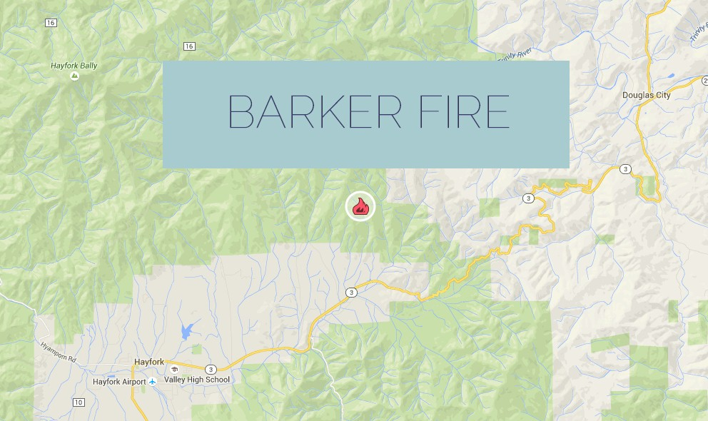 Barker Fire 2015 Map: California Wildfire Reaches 900 Acres