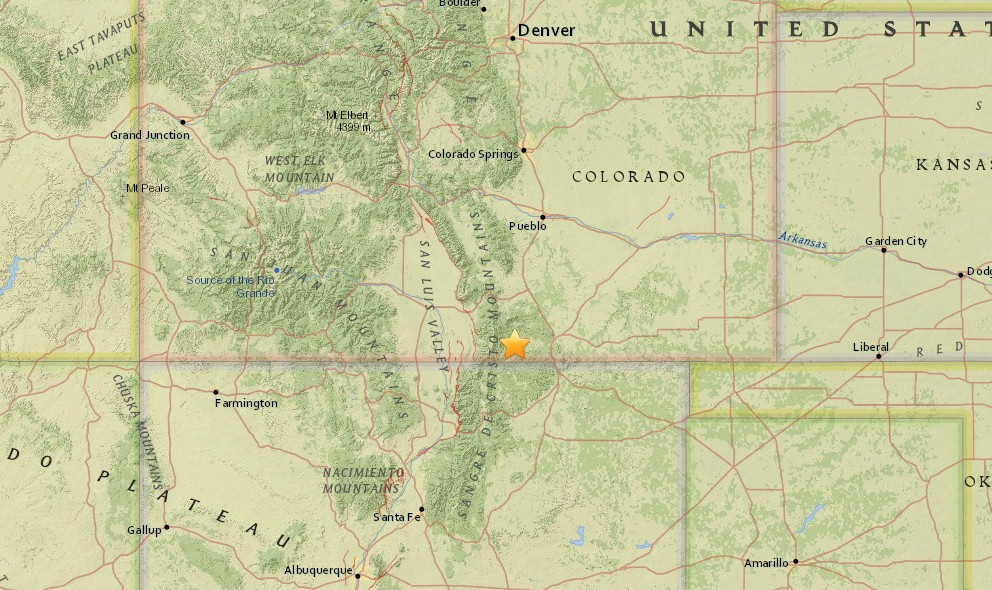 Colorado Earthquake Today 2015 Strikes Trinidad