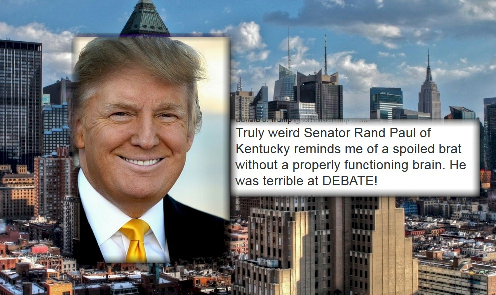 Donald Trump Calls Rand Paul a Mindless Spoiled Child