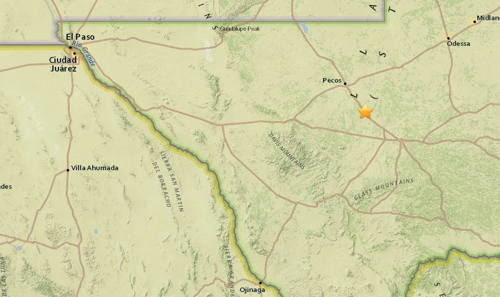 El Paso, Texas Earthquake Today 2015 Strikes Near Odessa