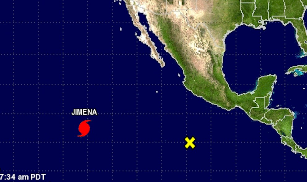 Hurricane Jimena Projected Path Departs National Hurricane Center Coverage
