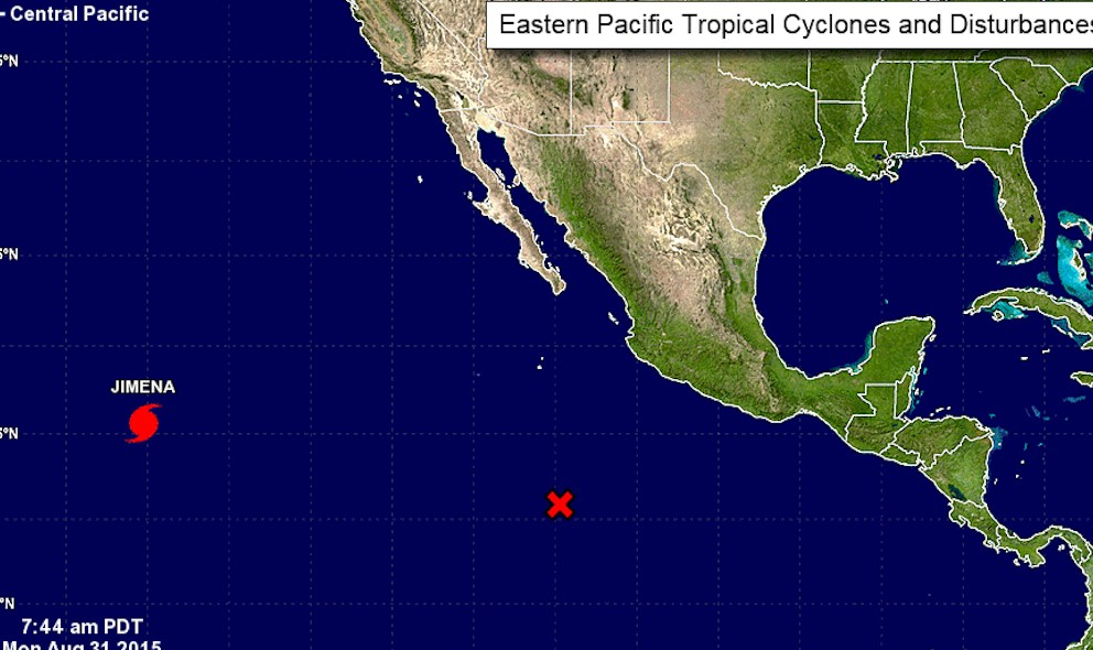 Hurricane Jimena Projected Path Updated by National Hurricane Center