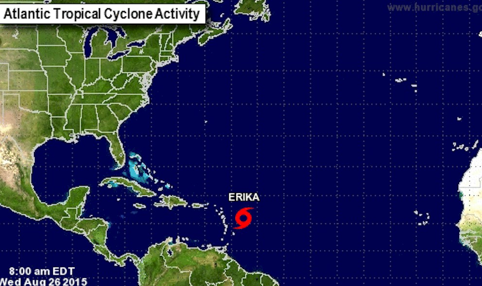 Hurricane Erika? Projected Path Preps Puerto Rico, National Hurricane Center