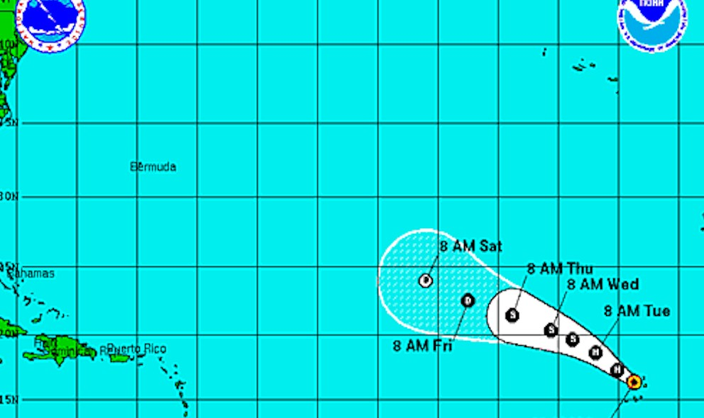 Hurricane Fred Projected Path Updated by National Hurricane Center
