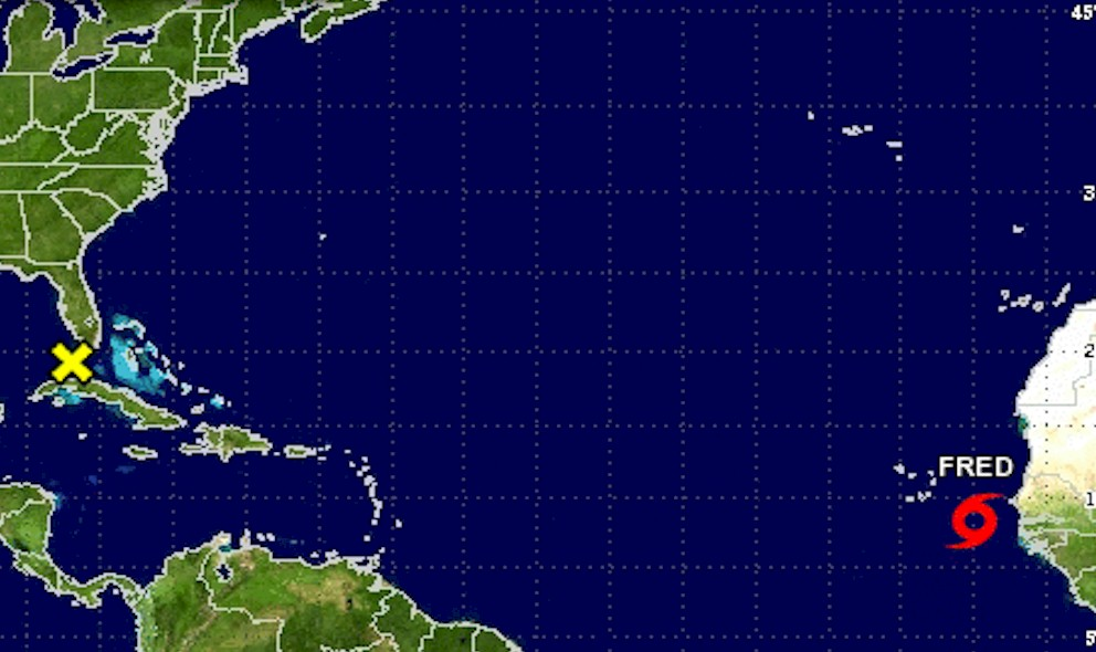Hurricane Fred Projected Path Released by National Hurricane Center