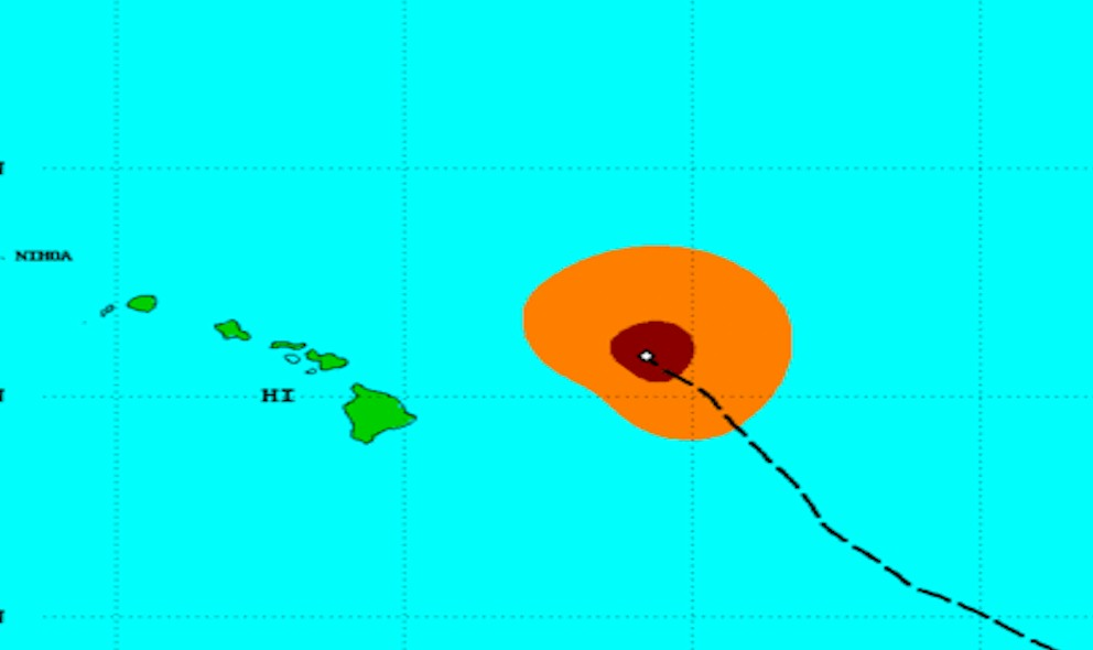 Hurricane Ignacio Projected Path Updated by CPHC Today