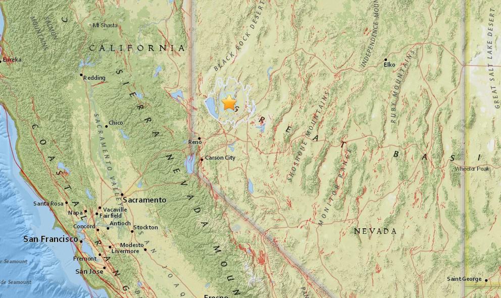 Nevada Earthquake Today 2015 Strikes East of Carson City