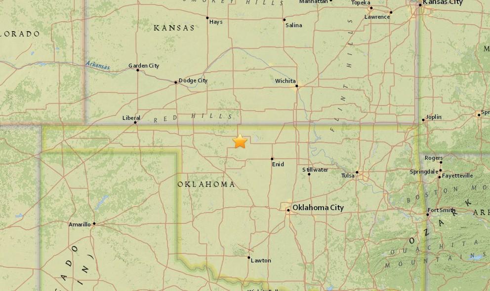 Oklahoma Earthquake 2015 Today Strikes West of Oklahoma City