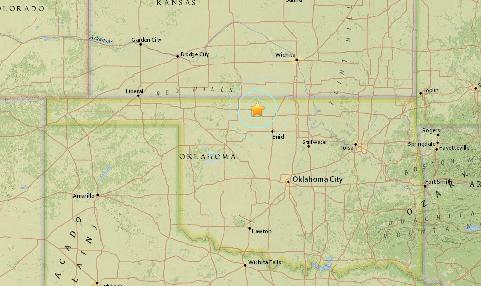 Oklahoma Earthquake Today 2015 Strikes West of Tulsa