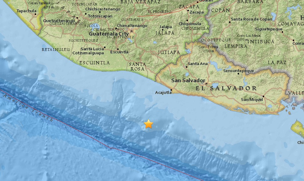 Panama, El Salvador Earthquakes 2015 Today Strikes Off Coast