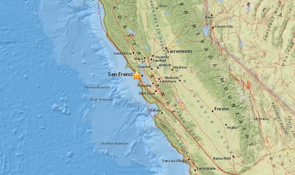 San Francisco Earthquake Today 2015 Strikes Mill Valley, Bay Area