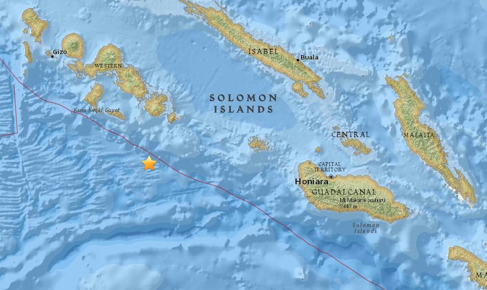 Solomon Islands Earthquake 2015 Today: 6.9 Strikes Gizo