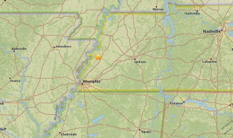 Tennessee Earthquake 2015 Today Strikes Arkansas as Well