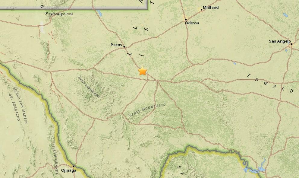 Texas Earthquake 2015 Today Strikes Near El Paso