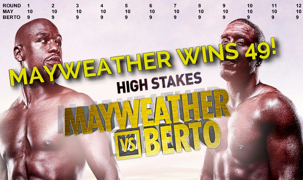 Who Won the Mayweather vs. Berto Fight Tonight September 12 2015, Boxing Results