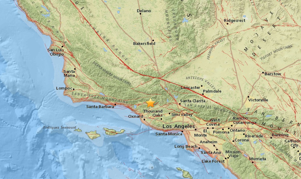 California Earthquake 2015 Today Strikes North of LA, Santa Paula